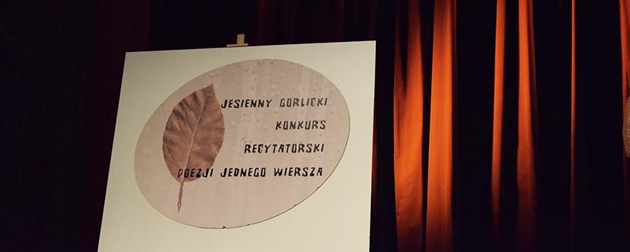 Xxxviii Jesienny Gorlicki Konkurs Recytatorski Poezji