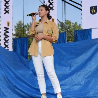 Uczestniczka Przeglądu Twórczości Gorlickiej Młodzieży