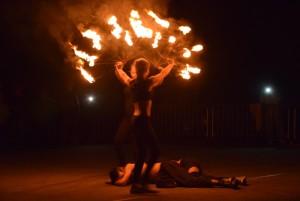 Teatr Eksperymentalny ERGO podczas pokazu wRopie